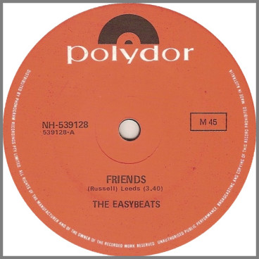 Friends B/W Rock And Roll Boogie by The Easybeats