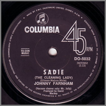 Sadie (The Cleaning Lady) by John Farnham