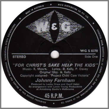 For Christ's Sake Help The Kids by John Farnham