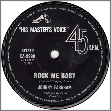 Rock Me Baby B/W Nobody's Fool by John Farnham