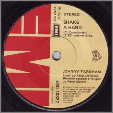 Shake A Hand B/W If You Would Stay  by John Farnham