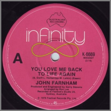 You Love Me Back To Life Again by John Farnham