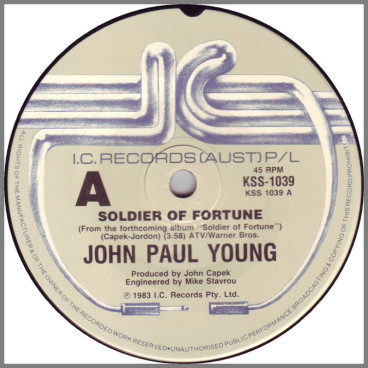 Soldier Of Fortune B/W The Sirens by John Paul Young