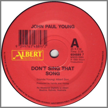 Don't Sing That Song B/W Here We Go by John Paul Young