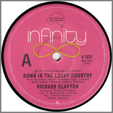 Down In The Lucky Country B/W Wintertime In Amsterdam by Richard Clapton