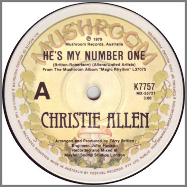 He's My Number One by Christie Allen