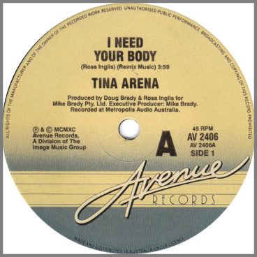 I Need Your Body by Tina Arena