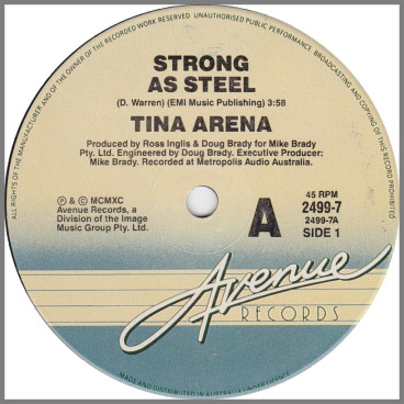Strong As Steel by Tina Arena