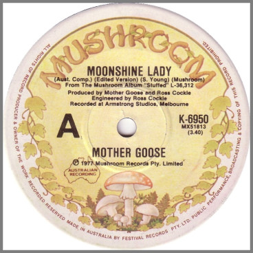Moonshine Lady B/W Somebody Broke My Heart by Mother Goose