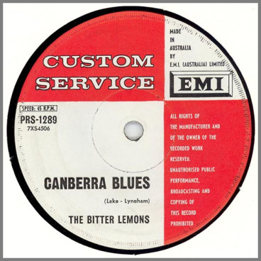 Canberra Blues B/W One More Chance by The Bitter Lemons