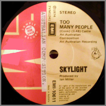 Too Many People B/W Give Me Your Love by Skylight