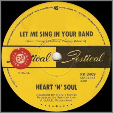 Let Me Sing In Your Band B/W Lights Of Cincinnatti by Heart 'N' Soul