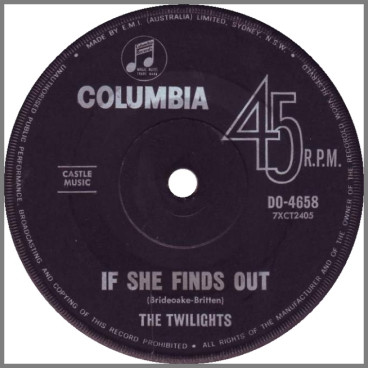 If She Finds Out / John Hardy by The Twilights