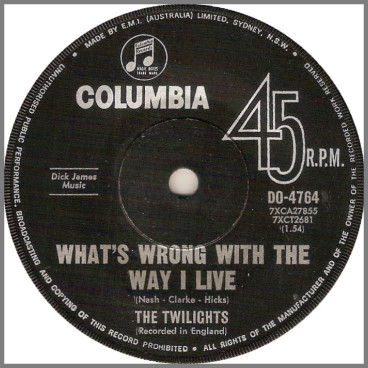 What's Wrong With The Way I Live by The Twilights