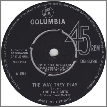 The Way They Play / Cathy, Come Home by The Twilights