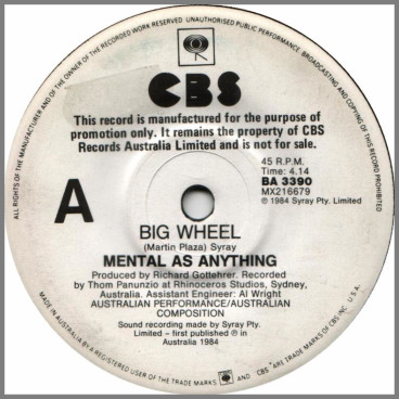 Big Wheel by Mental As Anything
