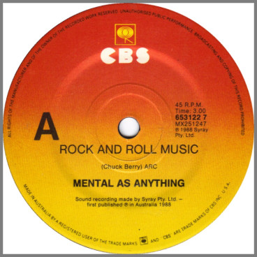 Rock And Roll Music by Mental As Anything