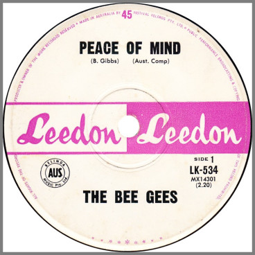 Peace Of Mind B/W Don't Say Goodbye by The Bee Gees
