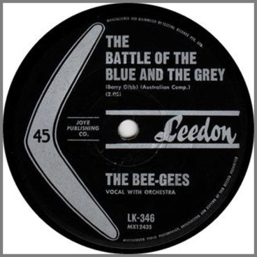 The Battle Of The Blue And The Grey B/W The Three Kisses Of Love by The Bee Gees