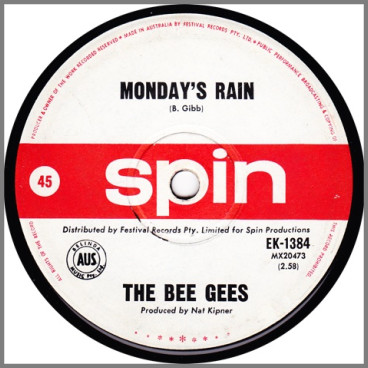 Monday's Rain B/W  by The Bee Gees