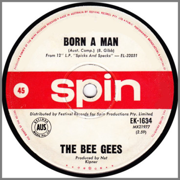 Born A Man B/W Big Chance by The Bee Gees