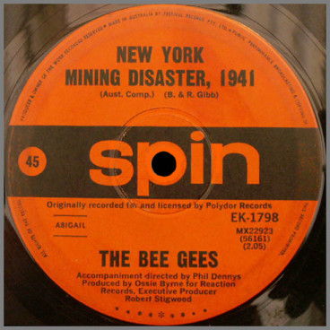 New York Mining Disaster 1941 B/W I Can't See Nobody by The Bee Gees