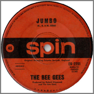 Jumbo B/W The Singer Sang His Song by The Bee Gees