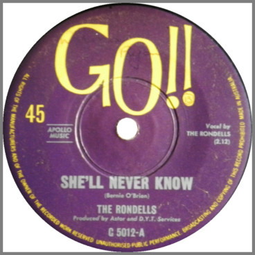 She'll Never Know B/W I'll Be Gone by The Rondells