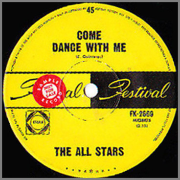 Come Dance With Me B/W Will You Love Me Tomorrow by The All Stars