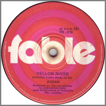 Yellow River B/W Baby Give Me A Smile by Jigsaw