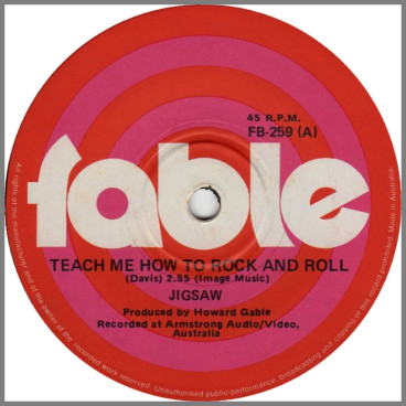 Teach Me How To Rock And Roll B/W You by Jigsaw