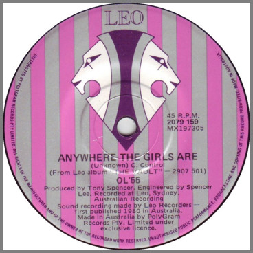 Anywhere The Girls Are B/W You've Got What It Takes by Ol '55