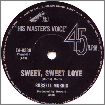 Sweet, Sweet Love B/W Jail Jonah's Daughter by Russell Morris