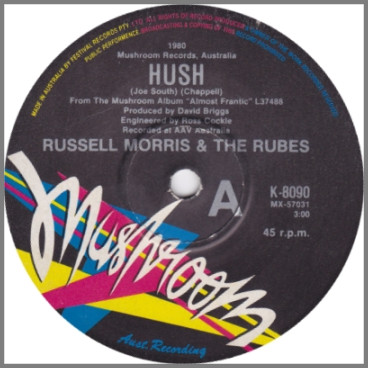 Hush B/W In The Heat Of The Night by Russell Morris