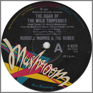 The Roar Of The Wild Torpedoes B/W Just Another One by Russell Morris