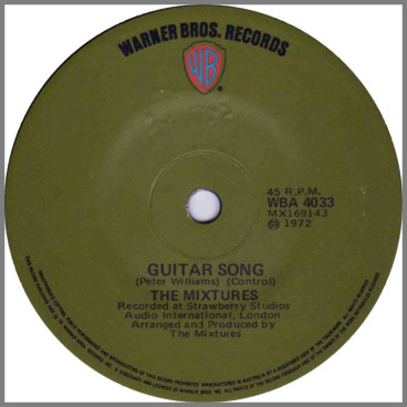 Guitar Song B/W I've Found Out Where It's At by The Mixtures