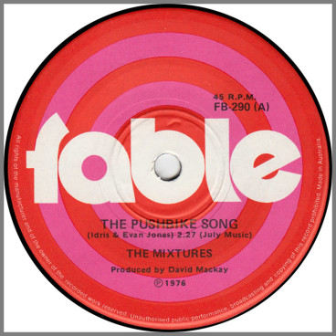 The Pushbike Song B/W In The Summertime by The Mixtures