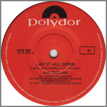 Lay It All Down by Jon English