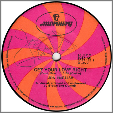 Get Your Love Right by Jon English