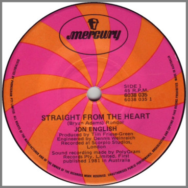 Straight From The Heart by Jon English