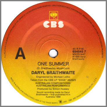 One Summer by Daryl Braithwaite