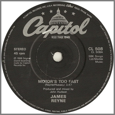 Motor's Too Fast by James Reyne