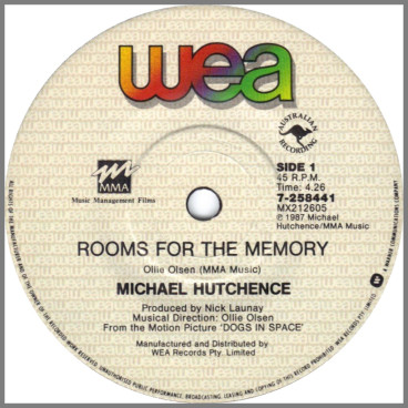 Rooms For The Memory by Michael Hutchence
