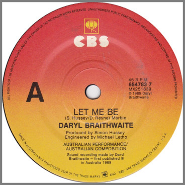 Let Me Be by Daryl Braithwaite