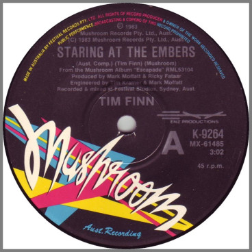 Staring At The Embers/Through The Years by Tim Finn