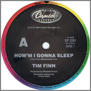 How'm I Gonna Sleep by Tim Finn