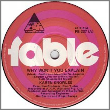 Why Won't You Explain by Karen Knowles