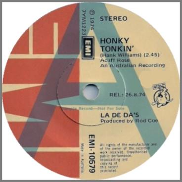 Honky Tonkin' B/W Temple Shuffle by The La De Das