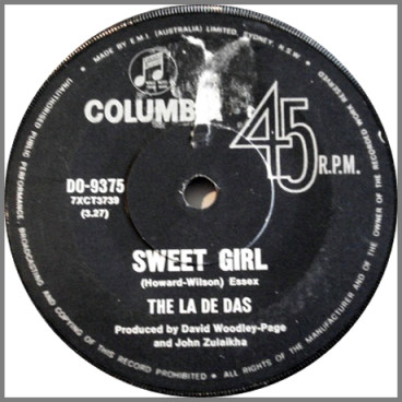 Sweet Girl B/W I Can't Find A Reason by The La De Das
