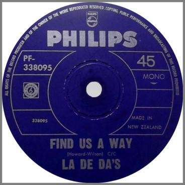 Find Us A Way B/W Rosalie by The La De Das